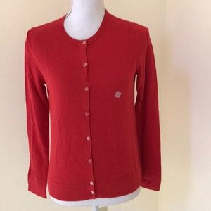 NWT! Ann Taylor factory red small cardigan